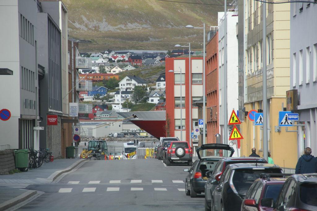 Hurtigruttens NordNorge har angjort bryggan