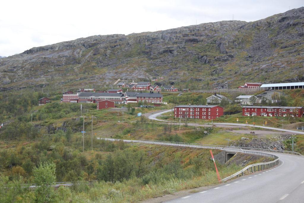 Riksgränsen med järnvägsstation