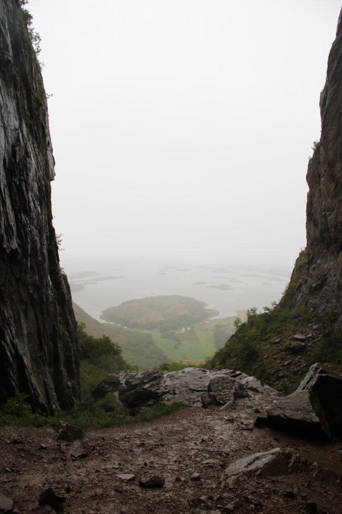 Utsikt från andra sidan av hålet